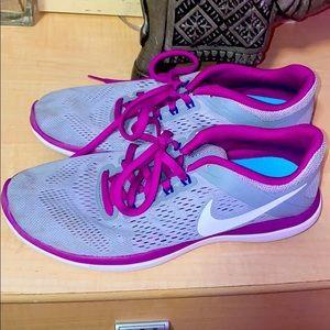 Nike Flex 2016 Run Purple and Gray